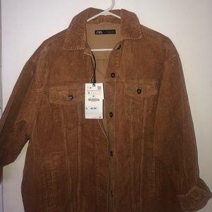 brown suede baggy shirt / jacket